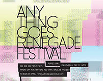 Anything Goes Renegade Festival Posters