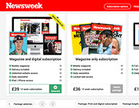 Web design - Newsweek purchase process