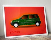 Daewoo Tico - low poly