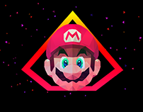 Low Poly Art - Super Mario