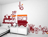 all aboard ! :: children's wall decals