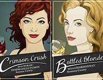Crimson Crush and Bottled Blonde Wine Label
