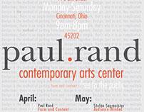 Paul Rand Art Show Poster