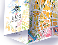 Milan Map. Watercolour