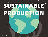 Sustainable Production Poster and Stamp Design