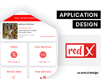 UI/UX design for RedX Mobile App by BrandzGarage