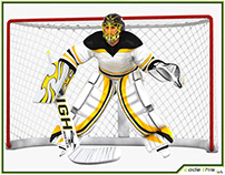 3D Model: Hockey Goalkeeper HQ 004
