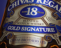 3D Bottle Chivas Regal 18 Years