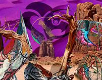 Journey exhibition at desert