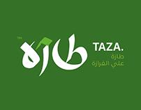 Taza App Logo Typography