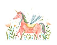 The fairy unicorn