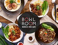 BOWL ROOM-碗宴亞洲休閒飲食菜單與門口立牌設計
