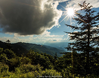 Stormy Weather & Sunset From Waterrock Knob