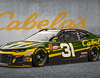 3D Render of #31 Cabela's Race Car