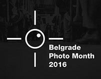 Belgrade Photo Month 2016 - Visual identity (2015)