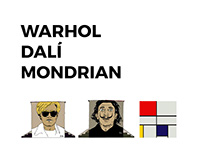STREET ART/ WARHOL / DALÍ / MONDRIAN