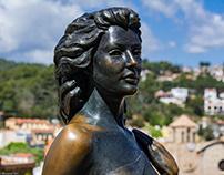 Sculpture Ava Gardner. Ció Avellí - Tossa de Mar
