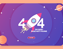 Daily UI #8: 404 PAGE