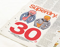 Superdry Newspaper AD Design for BAUHAUS (2016)