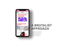 Brutalism on Mobile