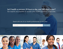 Visual Design for Medical Website,