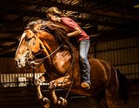 wild girl, wild horse