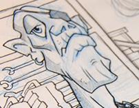 Angel People comic - character design and panel studies