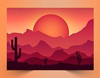 Sun Background Design