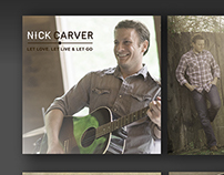 Album cover and CD label design for Nick Carver