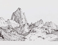 Fitz Roy - Stippling