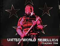 Skid Row's United World Rebellion EP packaging design.