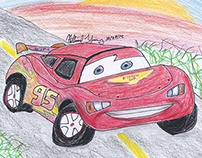 Lightning McQueen Drawing