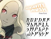 Alfabeto Gravity Rush (Free Font)