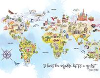 World Map illustrated