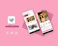 Welcome App - UX UI
