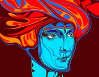 Lady with Ermine in Red Turban - Dama z Gronostajem