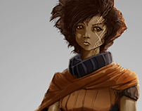 Project ZuluPunk character design: Ayumu Hinsa