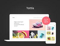 Yottis | Personal Creative Portfolio WP Theme + Store