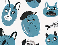 Kitties Screen Print