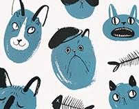 Kitties Screen Print