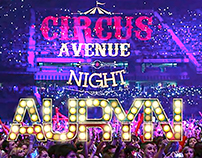 CIRCUS AVENUE NIGHT. AURYN. STAGE PROPS