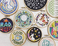 Embroidered Illustrations