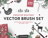 Sweater Weather Vector Brush Set