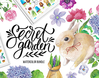 Secret garden - amazing watercolor bundle