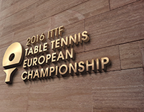 2106 ITTF Table Tennis European Championship logo desig