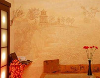 Murals in oriental style