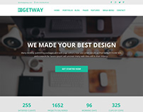 GETWAY FREE PSD TEMPLATE