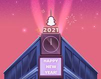Snapchat 2021 Happy New Year