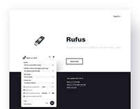 Rufus Website Redesign