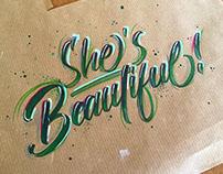 """Beaufiful"" Milan David lettering inspiration"